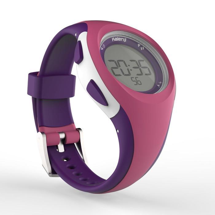Horloge met stopwatch hardlopen dames en kinderen W200 S roze / paars