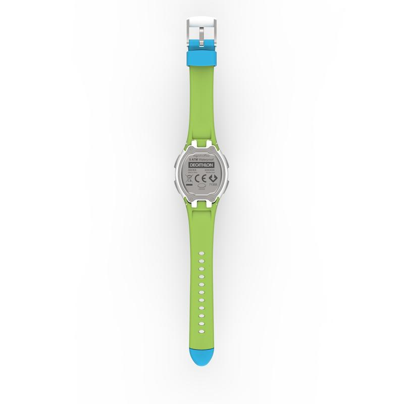 Reloj cronómetro running mujer/niños W200 S azul y verde