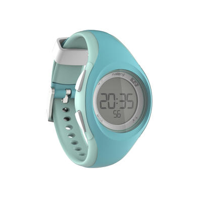 Reloj digital deportivo mujer y junior W200 S cuenta regresiva verde pastel