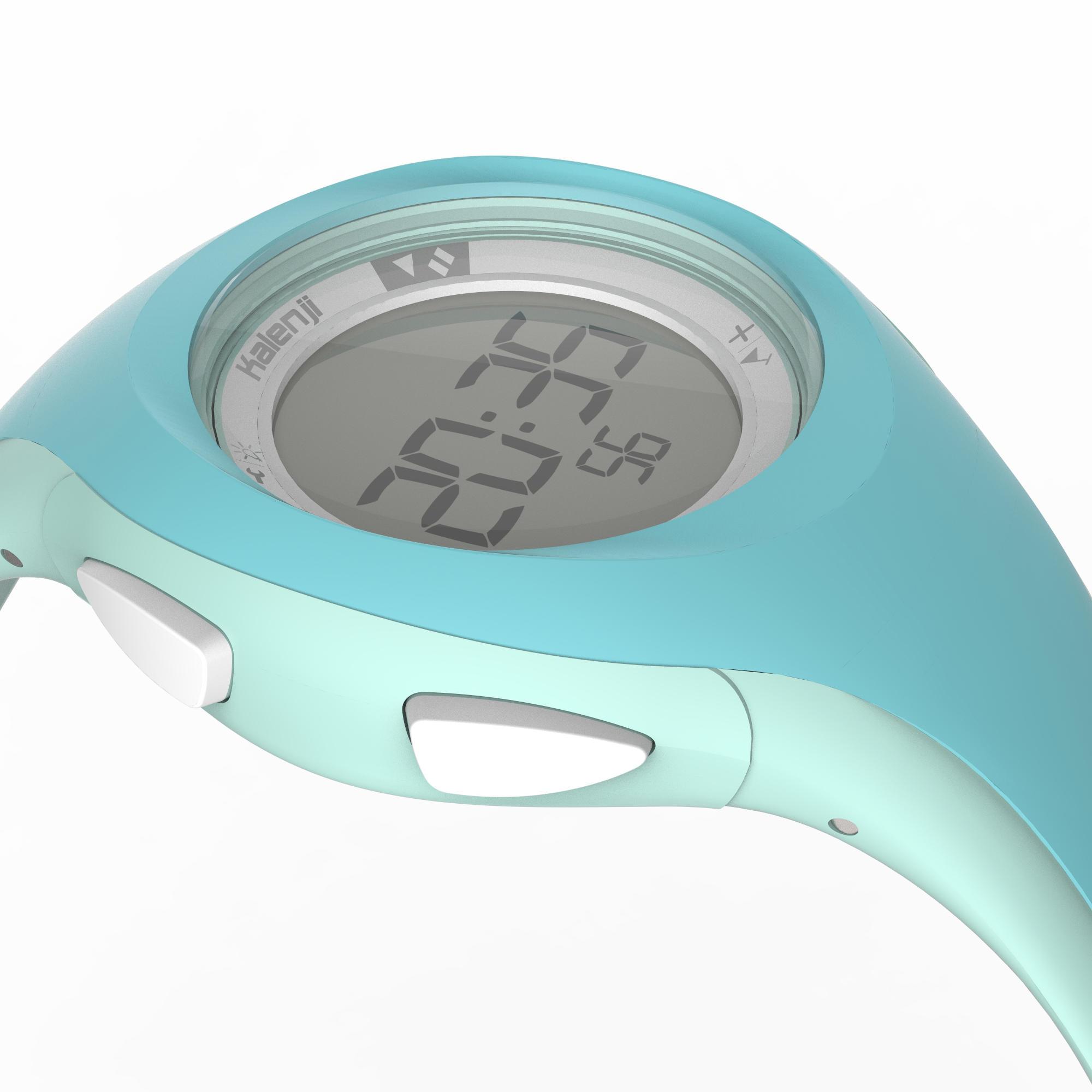Reloj digital deportivo mujer y junior W200 S temporizador verde pastel