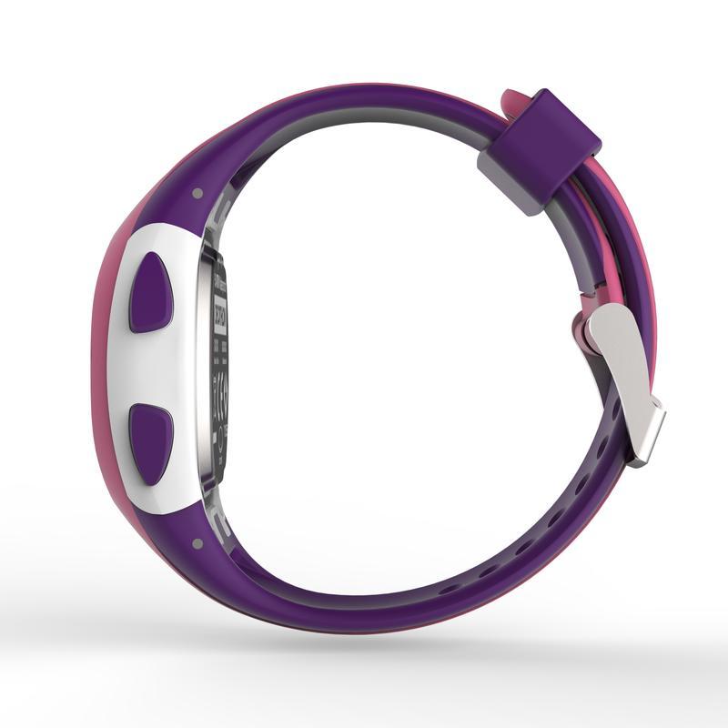 Reloj cronómetro running W200 S rosa y morado