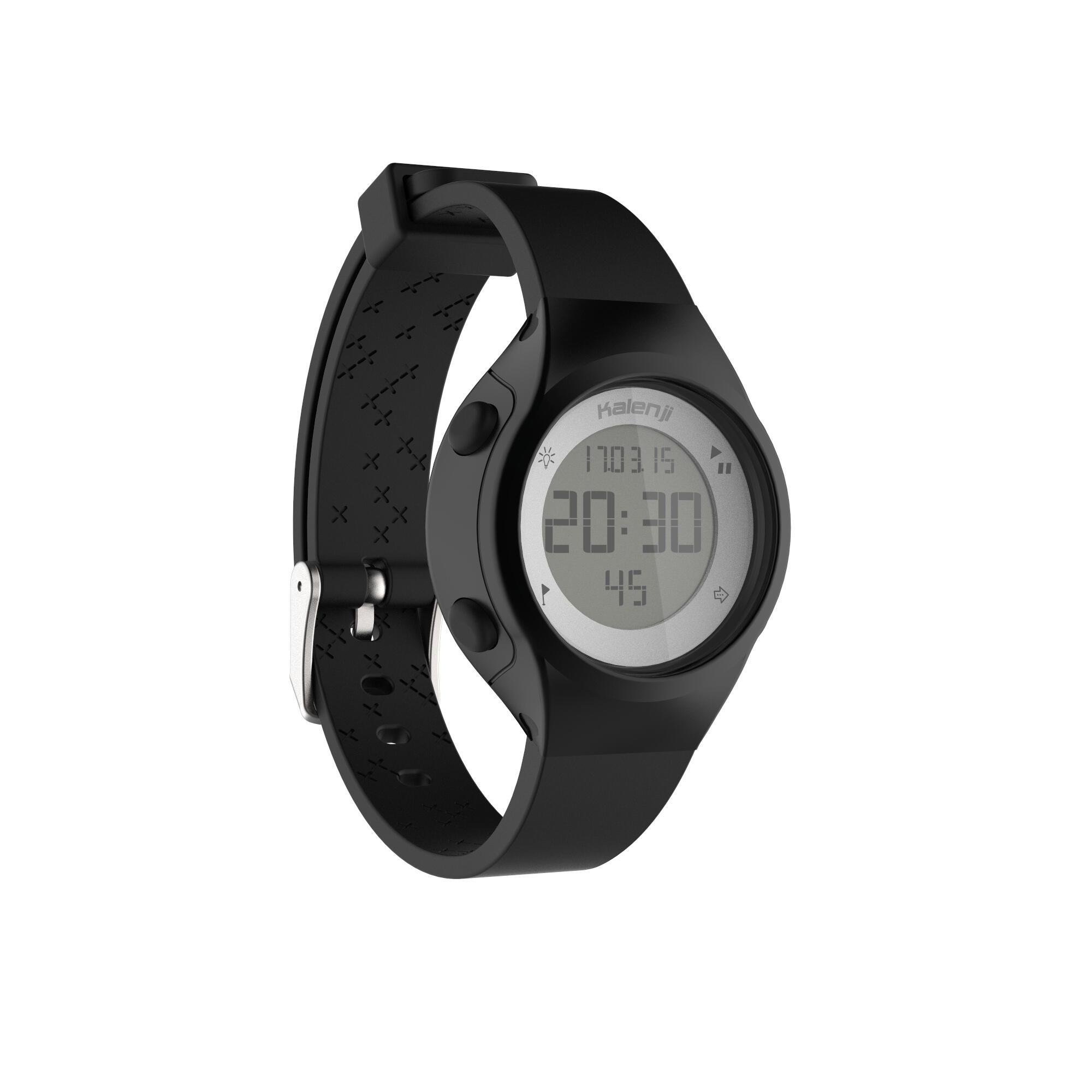 Reloj digital de deporte mujer y junior temporizador W500 S swip NEGRO