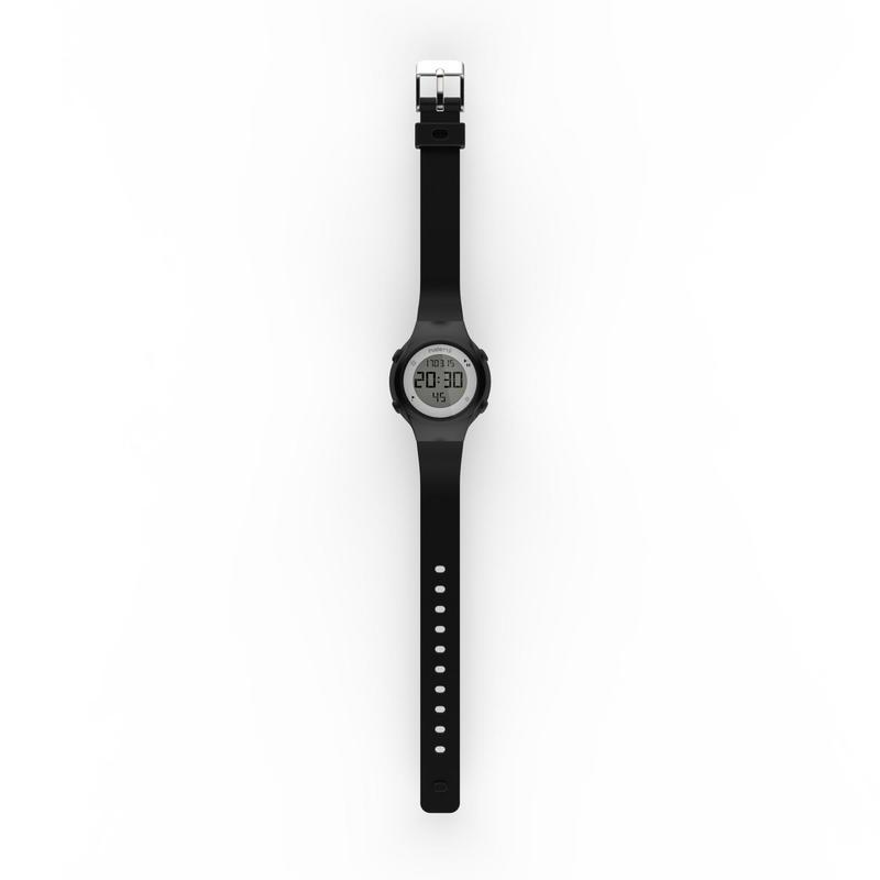 W500 S Swip Women and Children Digital Timer Sports Watch - Black
