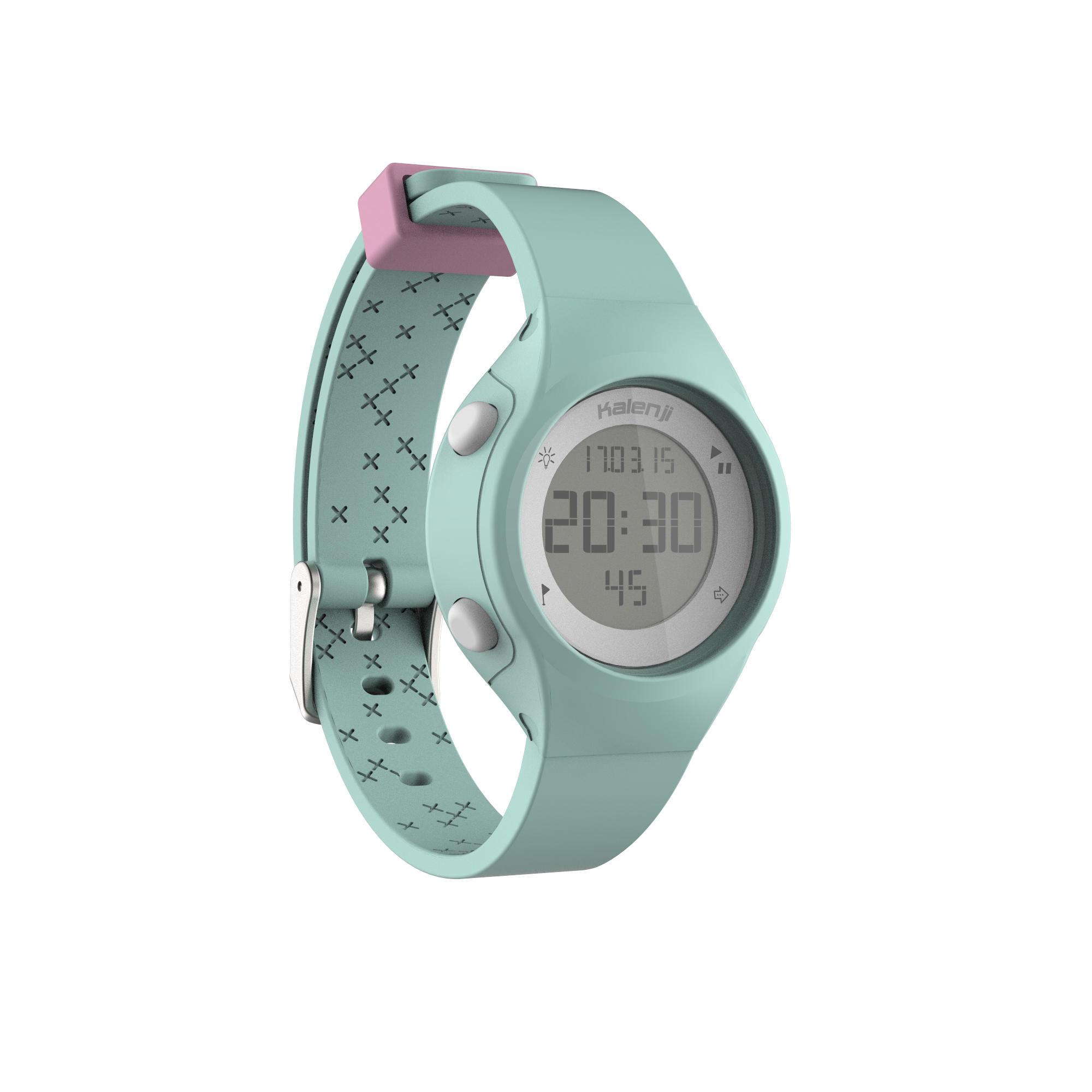 Reloj digital de deporte mujer y junior temporizador W500 S swip VERDE PASTEL