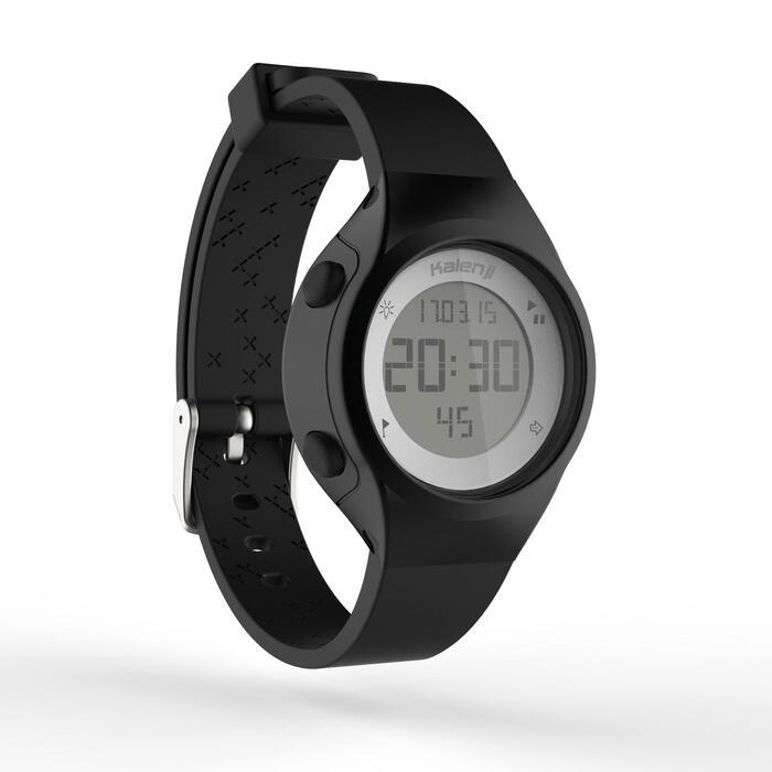 Montre chronomètre de course à pied femme W500 S NOIRE - 1328157