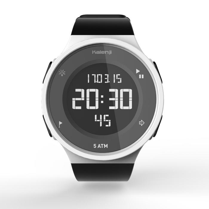 Montre chronomètre de course à pied homme W500 M noire reverse - 1328169