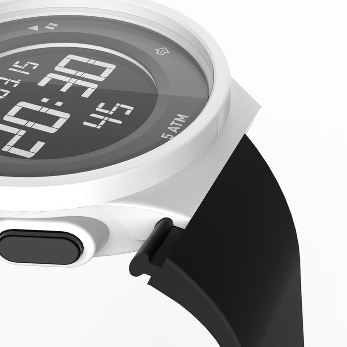 Montre chronomètre de course à pied homme W500 M noire reverse - 1328171