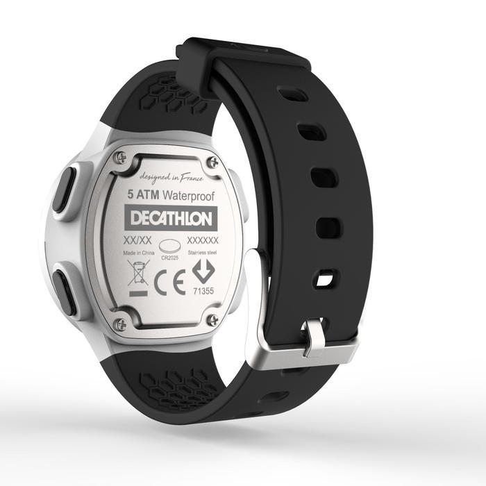Montre chronomètre de course à pied homme W500 M noire reverse - 1328172