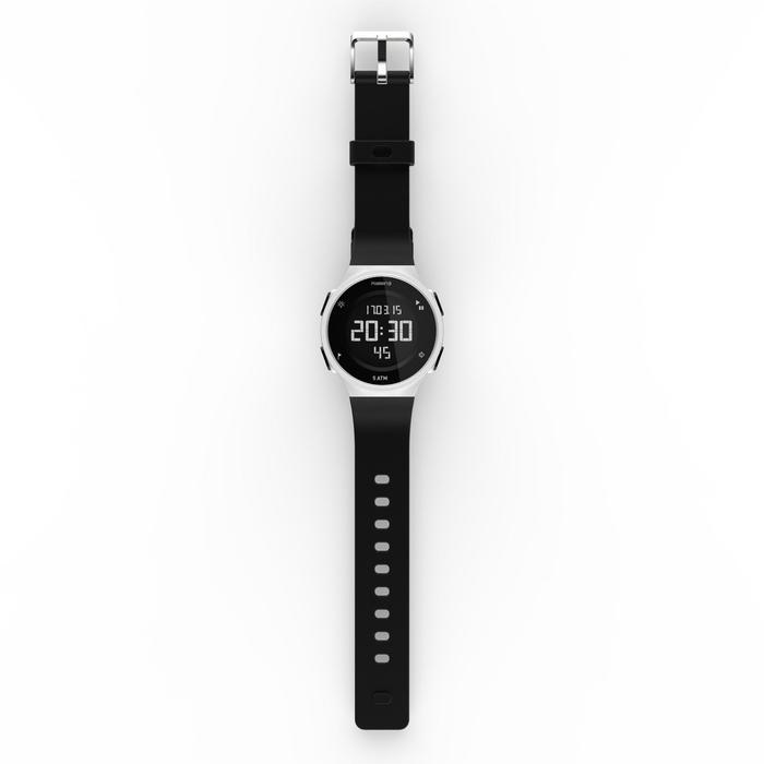 Montre chronomètre de course à pied homme W500 M noire reverse - 1328173