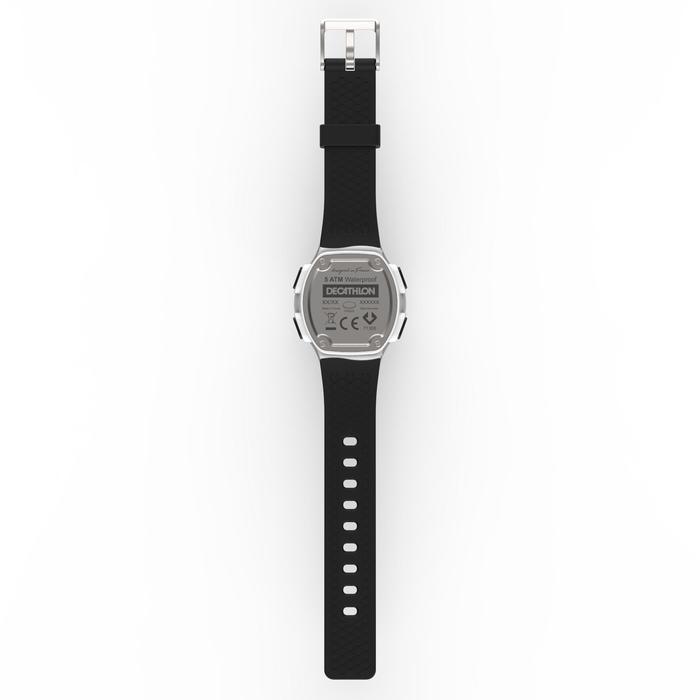 Montre chronomètre de course à pied homme W500 M noire reverse - 1328174
