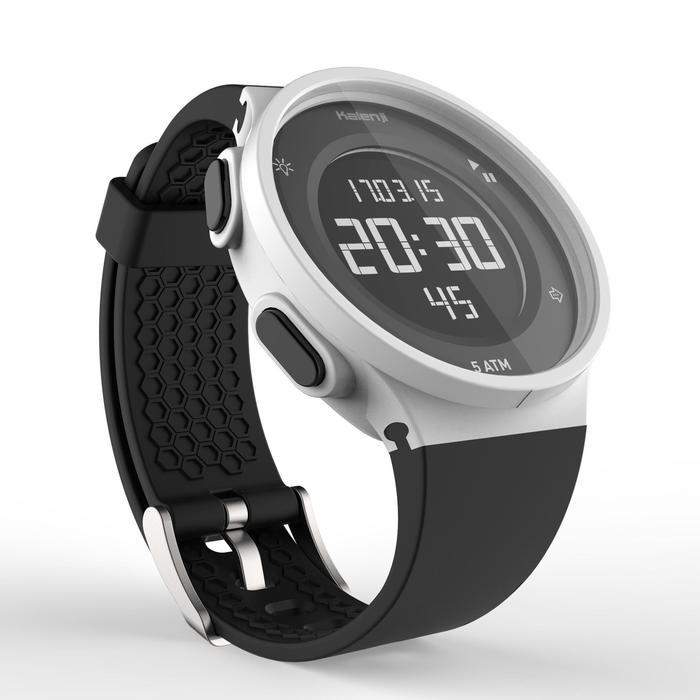 Montre chronomètre de course à pied homme W500 M noire reverse - 1328175
