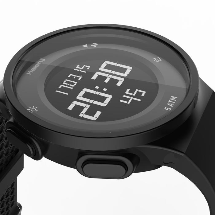 Montre chronomètre de course à pied homme W500 M noire reverse - 1328177