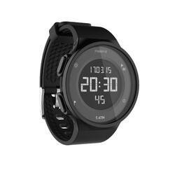 Montre chronomètre de course à pied homme W500 M noire reverse