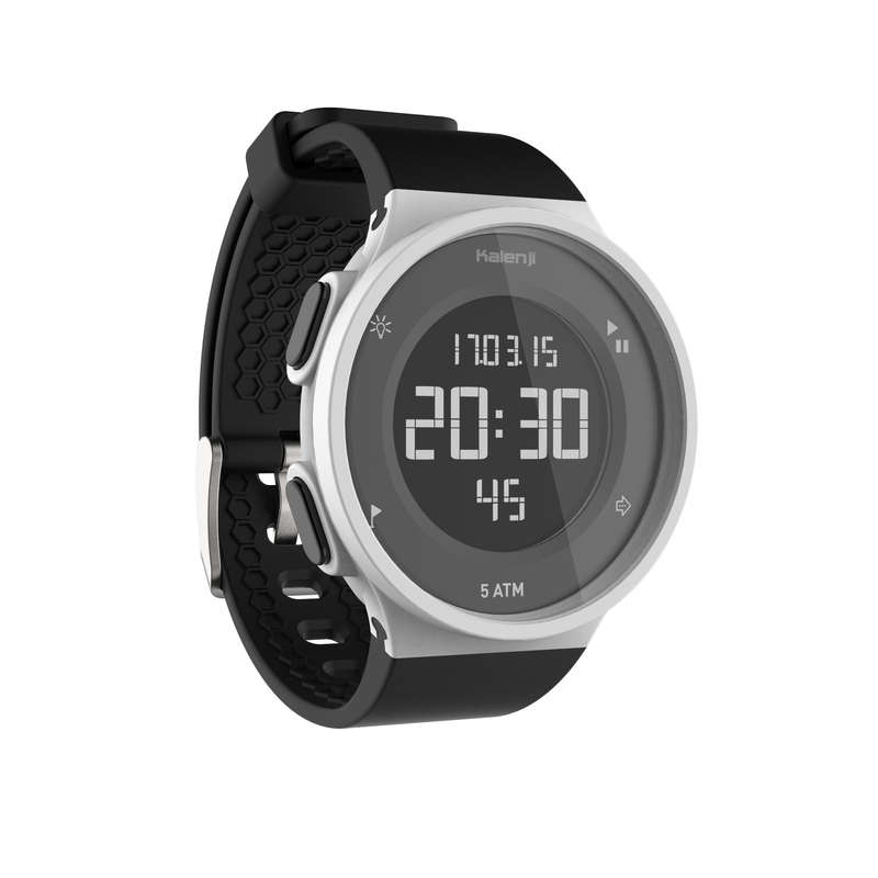 OROLOGI E CRONOMETRI Running, Trail, Atletica - Orologio Digitale W500 M timer Swip bianco e nero KALENJI - Running, Trail, Atletica