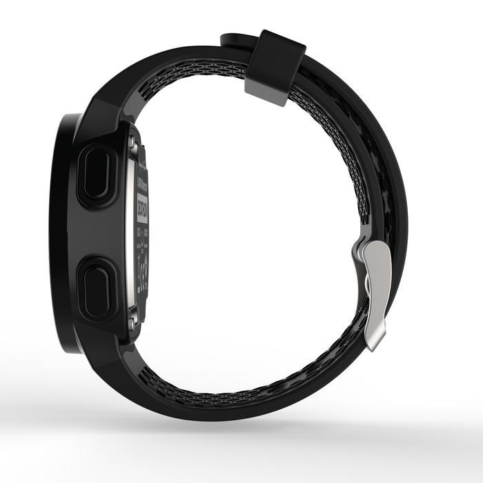 Montre chronomètre de course à pied homme W500 M noire reverse - 1328180