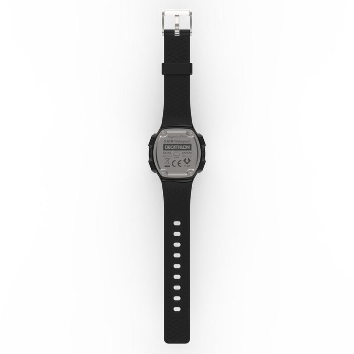 Montre chronomètre de course à pied homme W500 M noire reverse - 1328182