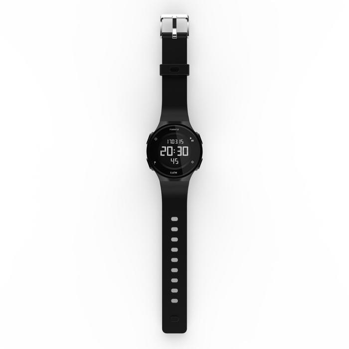Montre chronomètre de course à pied homme W500 M noire reverse - 1328184