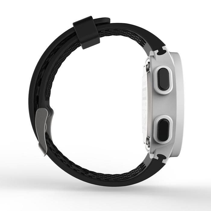 Montre chronomètre de course à pied homme W500 M noire reverse - 1328186