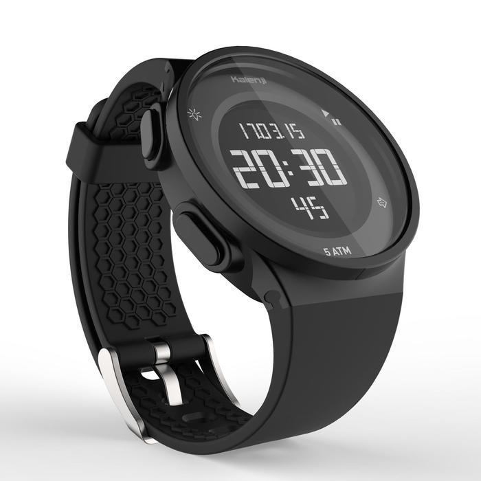 Montre chronomètre de course à pied homme W500 M noire reverse - 1328188