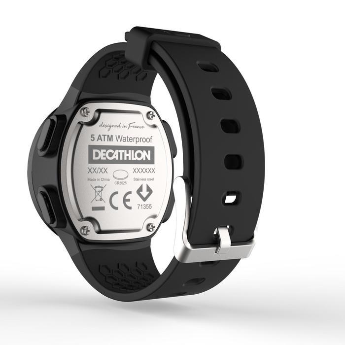 Montre chronomètre de course à pied homme W500 M noire reverse - 1328189