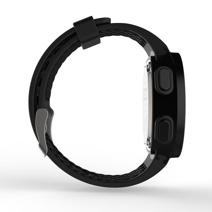Montre chronomètre de course à pied homme W500 M noire reverse - 1328190
