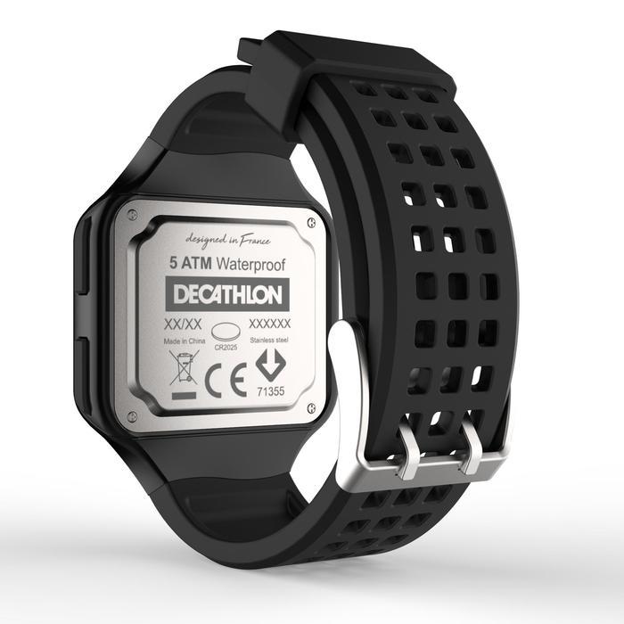 男款跑步腕錶W500 M黑色