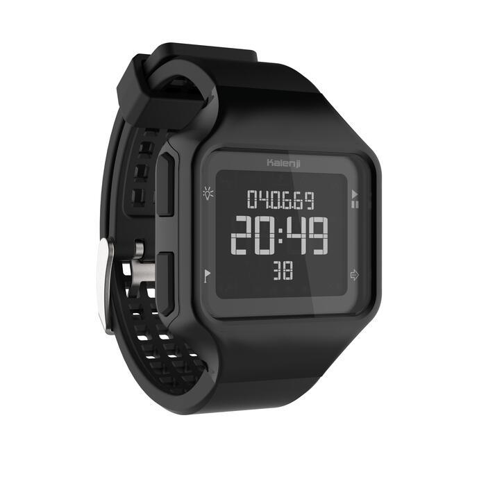Montre chronomètre de course à pied homme W500+ M noire - 1328210
