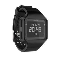 Hardloophorloge met stopwatch heren W500+ M zwart