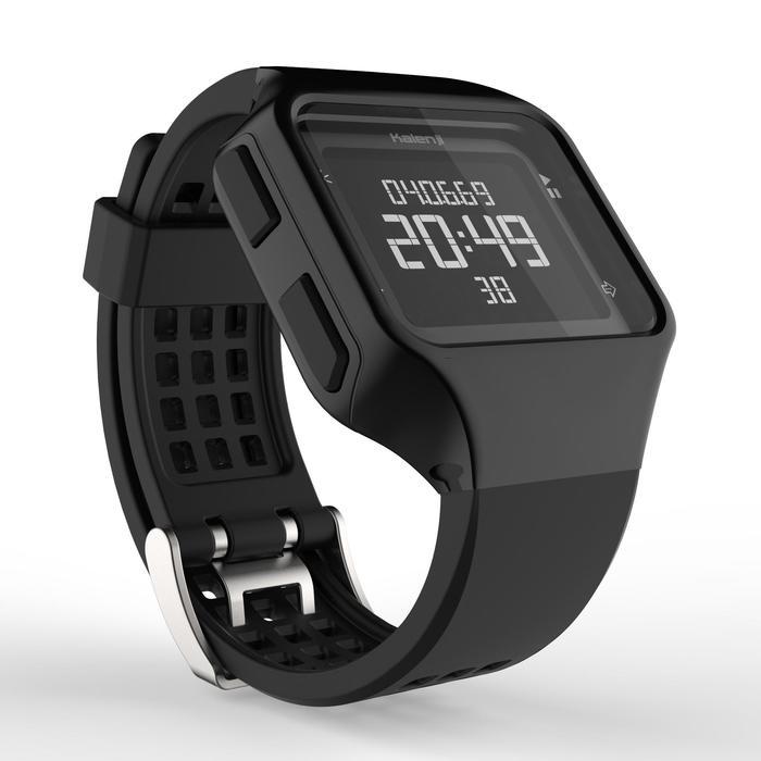 Montre chronomètre de course à pied homme W500+ M noire - 1328211