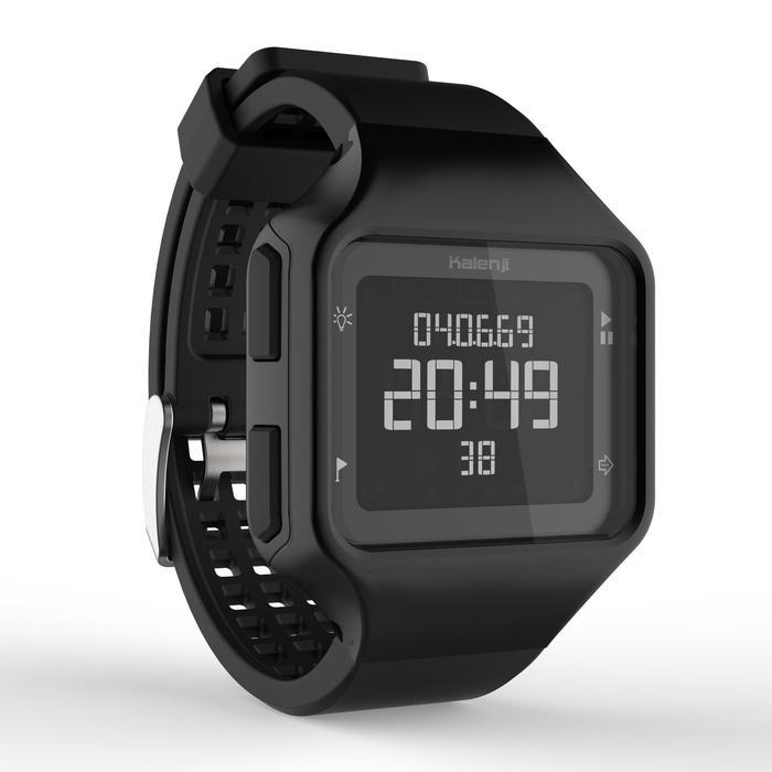 Montre chronomètre de course à pied homme W500+ M noire - 1328213