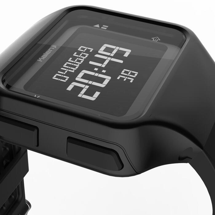 Montre chronomètre de course à pied homme W500+ M noire - 1328214
