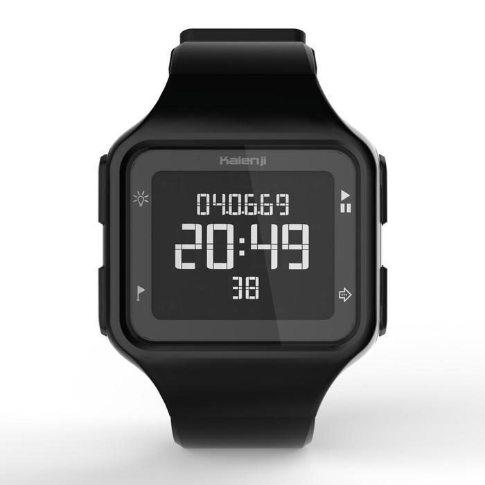 Montre chronomètre de course à pied homme W500+ M noire - 1328216