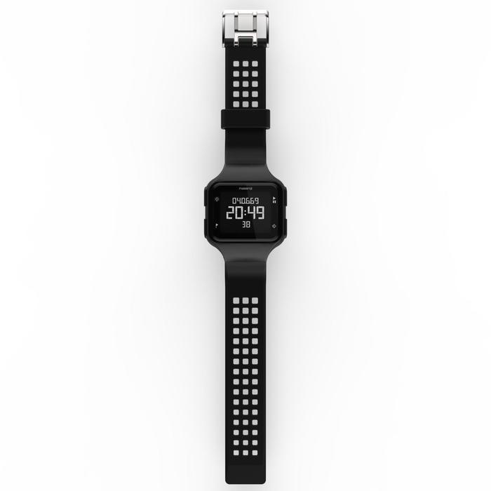 Montre chronomètre de course à pied homme W500+ M noire - 1328217