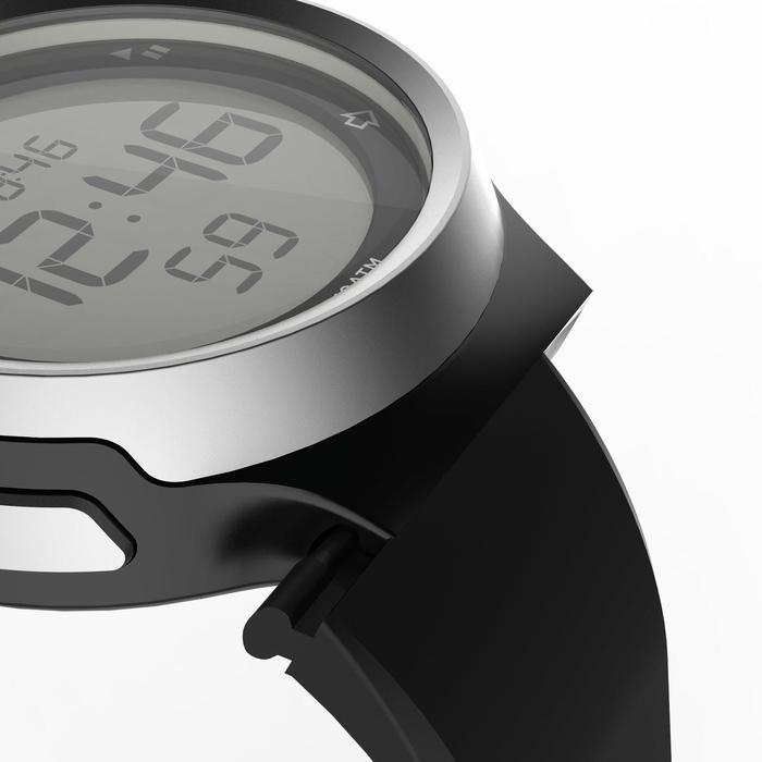 Montre chronomètre de course à pied homme W900 noire reverse - 1328220