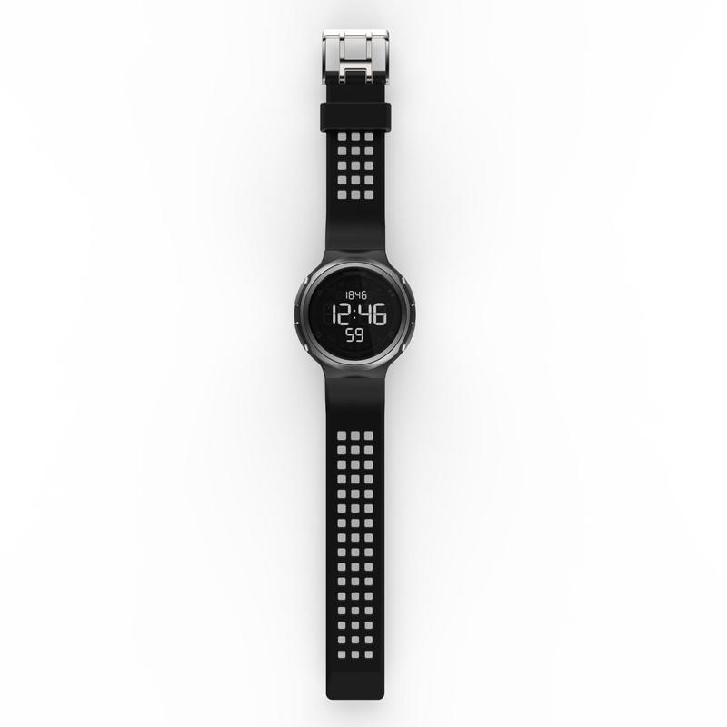 Montre chronomètre de course à pied homme W900 noire écran reverse