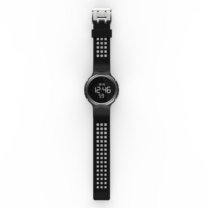 Montre chronomètre de course à pied homme W900 noire reverse - 1328221