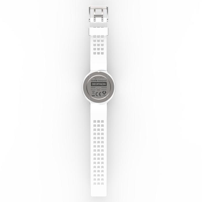 Sportuhr digital W900 M Swip Herren weiß/Leder
