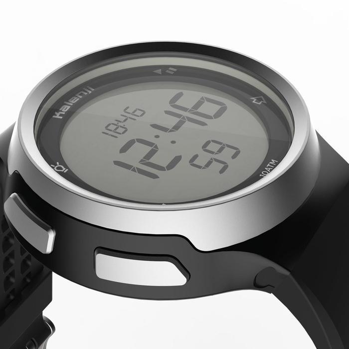 Montre chronomètre de course à pied homme W900 noire reverse - 1328227