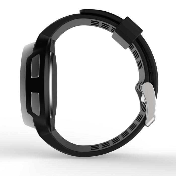 Montre chronomètre de course à pied homme W900 noire reverse - 1328228