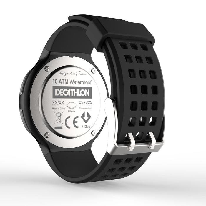 Montre chronomètre de course à pied homme W900 noire reverse - 1328229