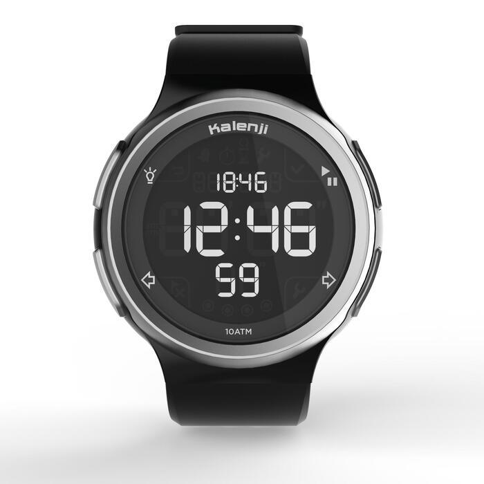 Montre chronomètre de course à pied homme W900 noire reverse - 1328230