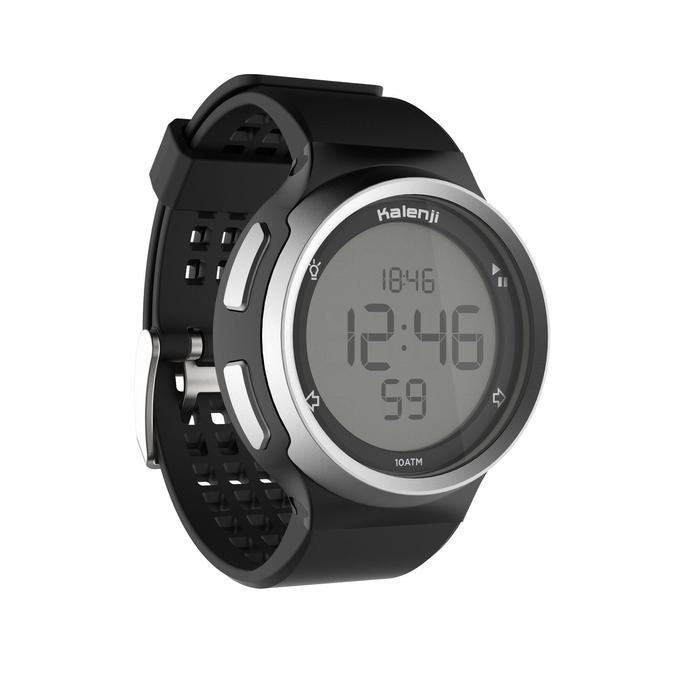 Montre chronomètre de course à pied homme W900 noire reverse - 1328233