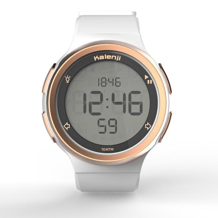 Montre chronomètre de course à pied homme W900 noire reverse - 1328234
