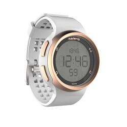 Hardloophorloge met stopwatch heren W900 wit en koperkleurig