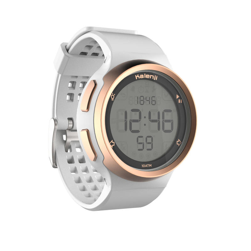 W900 M men's running stopwatch white and copper
