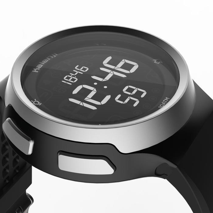 Montre chronomètre de course à pied homme W900 noire reverse - 1328236