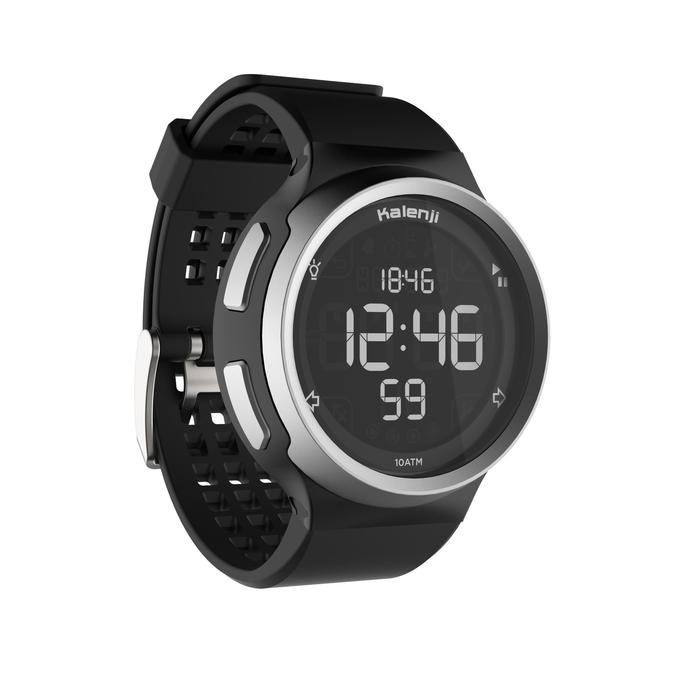 Montre chronomètre de course à pied homme W900 noire reverse - 1328237
