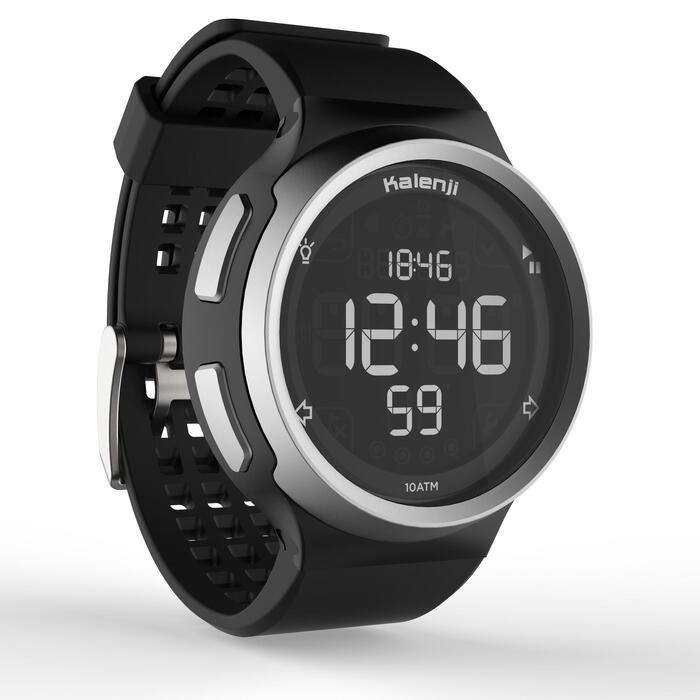 Montre chronomètre de course à pied homme W900 noire reverse - 1328238