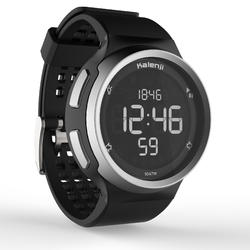 W900 Men's Running Stopwatch Reverse Screen - Black