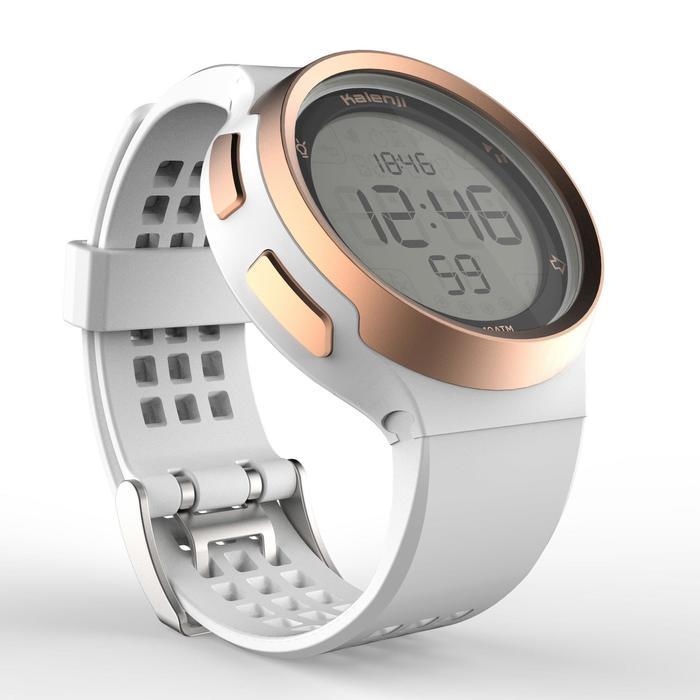 Horloge met stopwatch W900 wit en koperkleurig